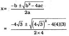 Quadratic Equations Ex 10.3 KSEEB
