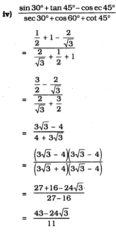 Introduction To Trigonometry Class 10 Exercise 11.2 KSEEB Solutions