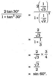 10th Maths Introduction To Trigonometry Exercise 11.2 KSEEB Solutions