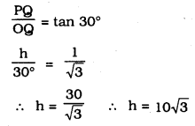 KSEEB SSLC Class 10 Maths Solutions Chapter 12 Some Applications of Trigonometry Ex 12.1 Q 4.1