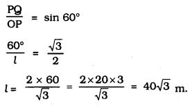 KSEEB SSLC Class 10 Maths Solutions Chapter 12 Some Applications of Trigonometry Ex 12.1 Q 5.1