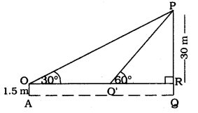 KSEEB SSLC Class 10 Maths Solutions Chapter 12 Some Applications of Trigonometry Ex 12.1 Q 6