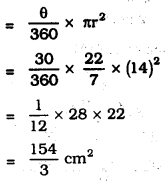 KSEEB SSLC Class 10 Maths Solutions Chapter 5 Areas Related to Circles Ex 5.2 4