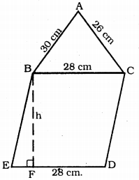 KSEEB Solutions for Class 9 Maths Chapter 8 Heron's Formula Ex 8.2 13