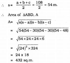 KSEEB Solutions for Class 9 Maths Chapter 8 Heron's Formula Ex 8.2 16