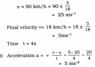 Force And Laws Of Motion Class 9 KSEEB Solutions
