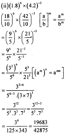 KSEEB Solutions for Class 8 Maths Chapter 10 Exponents Ex. 10.6 2