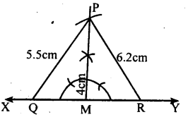 KSEEB Solutions for Class 8 Maths Chapter 12 Construction of Triangles Ex. 12.10 1