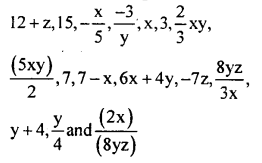 KSEEB Solutions for Class 8 Maths Chapter 2 Algebraic Expressions Ex. 2.1 1
