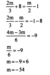 KSEEB Solutions for Class 8 Maths Chapter 8 Linear Equations in One Variable Ex. 8.1 8
