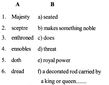 Quality Of Mercy Poem Question And Answer KSEEB Class 10