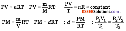 1st PUC Chemistry Question Bank Chapter 5 States of Matter - 2