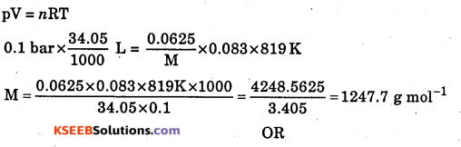 1st PUC Chemistry Question Bank Chapter 5 States of Matter - 9