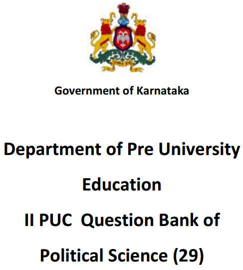 2nd PUC Political Science Question Bank with Answers