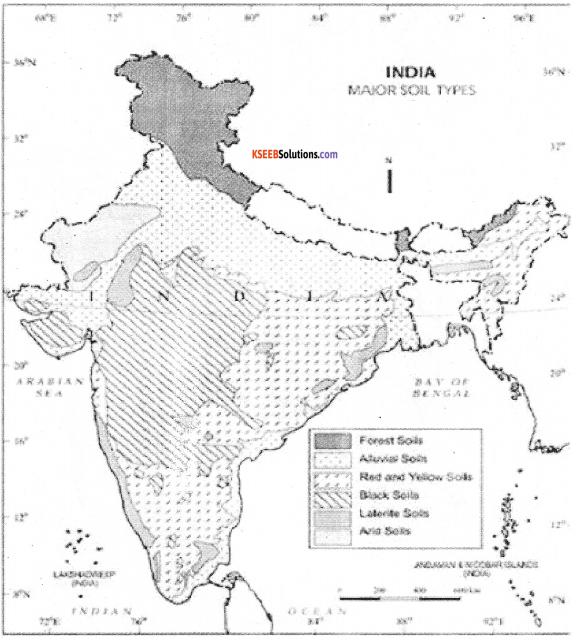 1st PUC Geography Previous Year Question Paper March 2016 (South) - 12