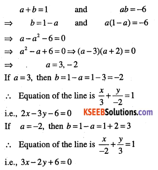 1st PUC Maths Question Bank Chapter 10 Straight Lines 108