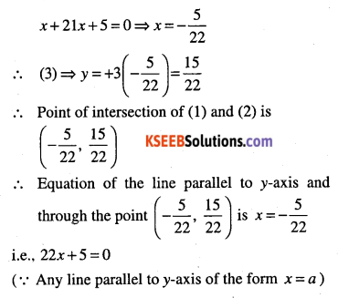 1st PUC Maths Question Bank Chapter 10 Straight Lines 112