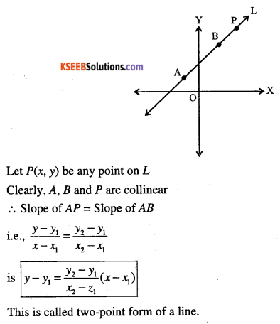 1st PUC Maths Question Bank Chapter 10 Straight Lines 16