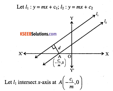 1st PUC Maths Question Bank Chapter 10 Straight Lines 27