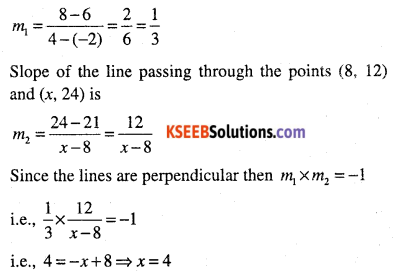 1st PUC Maths Question Bank Chapter 10 Straight Lines 47