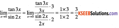 1st PUC Maths Question Bank Chapter 13 Limits and Derivatives 50