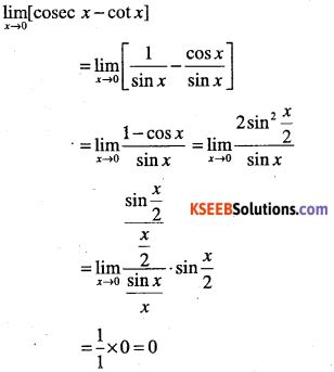 1st PUC Maths Question Bank Chapter 13 Limits and Derivatives 71