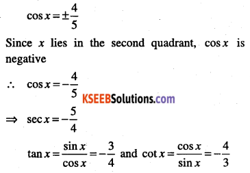 1st PUC Maths Question Bank Chapter 3 Trigonometric Functions 25