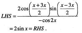 1st PUC Maths Question Bank Chapter 3 Trigonometric Functions 62