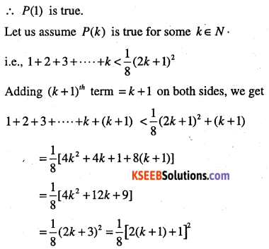 1st PUC Maths Question Bank Chapter 4 Principle of Mathematical Induction 39