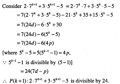 1st PUC Maths Question Bank Chapter 4 Principle of Mathematical Induction 42