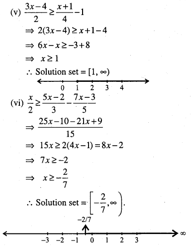 1st PUC Maths Question Bank Chapter 6 Linear Inequalities 10