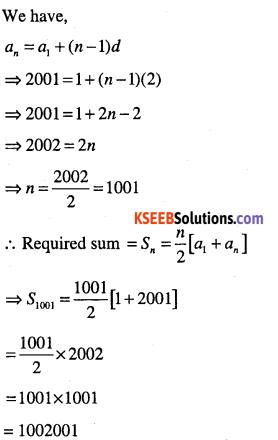 1st PUC Maths Question Bank Chapter 9 Sequences and Series 8