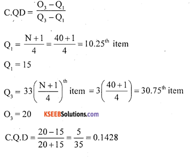 1st PUC Statistics Question Bank Chapter 5 Analysis of Univariate Data - 123