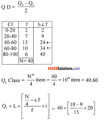 1st PUC Statistics Question Bank Chapter 5 Analysis of Univariate Data - 125