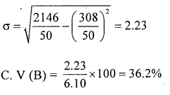 1st PUC Statistics Question Bank Chapter 5 Analysis of Univariate Data - 176