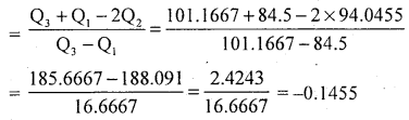 1st PUC Statistics Question Bank Chapter 5 Analysis of Univariate Data - 200