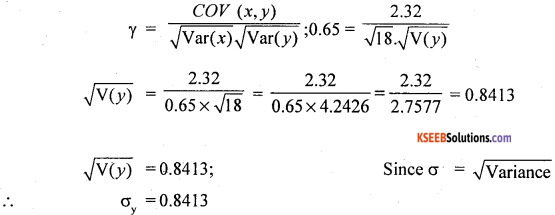 1st PUC Statistics Question Bank Chapter 6 Analysis of Bivariate Correlation and Regression -32
