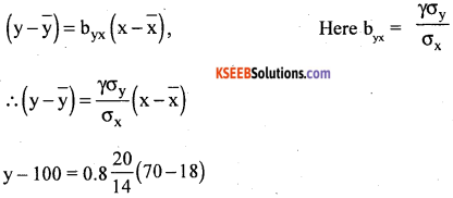 1st PUC Statistics Question Bank Chapter 6 Analysis of Bivariate Correlation and Regression -73