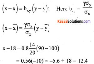 1st PUC Statistics Question Bank Chapter 6 Analysis of Bivariate Correlation and Regression -74