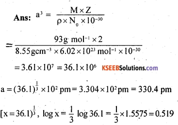 2nd PUC Chemistry Question Bank Chapter 1 The Solid State - 11