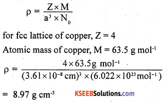 2nd PUC Chemistry Question Bank Chapter 1 The Solid State - 14