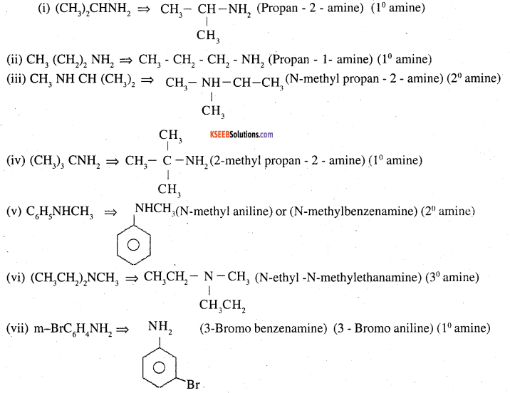 2nd PUC Chemistry Question Bank Chapter 13 Amines - 1