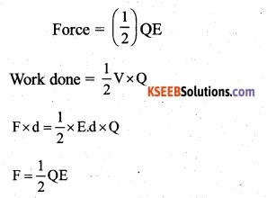 2nd PUC Physics Question Bank Chapter 2 Electrostatic Potential and Capacitance 42