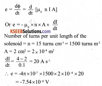 2nd PUC Physics Question Bank Chapter 6 Electromagnetic Induction 5