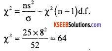 2nd PUC Statistics Model Question Paper 1 with Answers - 50