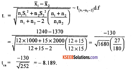 2nd PUC Statistics Model Question Paper 2 with Answers - 36