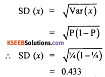 2nd PUC Statistics Question Bank Chapter 5 Theoretical Distribution - 22