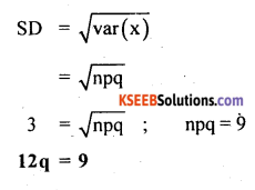 2nd PUC Statistics Question Bank Chapter 5 Theoretical Distribution - 23