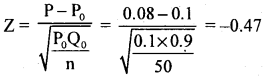 2nd PUC Statistics Question Bank Chapter 6 Statistical Inference - 52