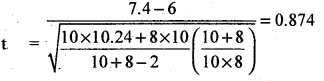2nd PUC Statistics Question Bank Chapter 6 Statistical Inference - 167